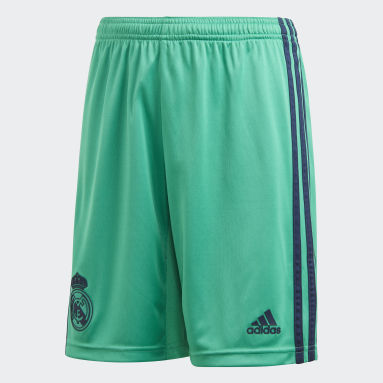 Jongens Voetbal Groen Real Madrid Derde Short