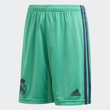 Short Third Real Madrid Verde Ragazzo Calcio
