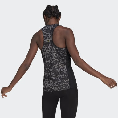 Women Running Grey Fast Graphic Tank Top
