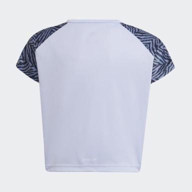 Camiseta Designed 2 Move Seasonal Violeta Niña Gimnasio Y Entrenamiento