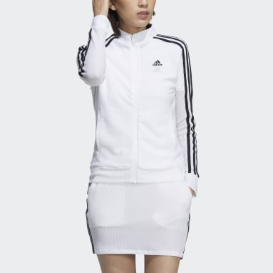 Women Golf White 3-Stripes Jacket