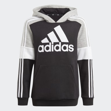 Sweat-shirt à capuche adidas Essentials Colorblock (Non genré) Noir Enfants Sportswear