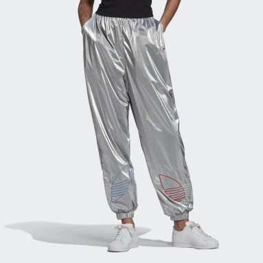 Women Originals Silver Adicolor Tricolor Metallic Japona Track Pants