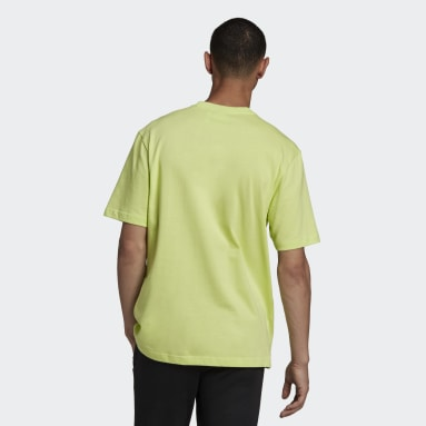 Men Originals Yellow adidas Adventure Big Logo T-Shirt
