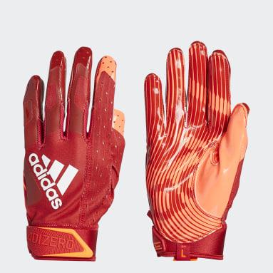 Football Red Adizero 9.0 Highlighter Receiver Gloves
