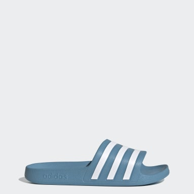 Women's Yoga Blue Adilette Aqua Slides