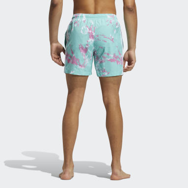Men's Originals Green All Day I Dream About Tie-Dye Swim Shorts