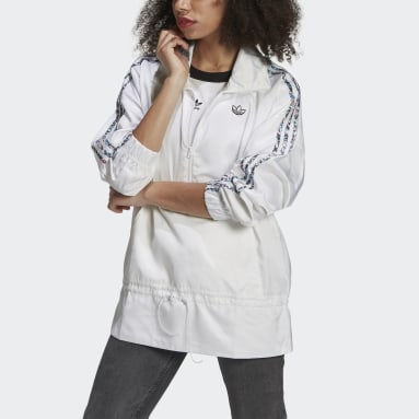 Coupe-vent Half-Zip Blanc Femmes Originals