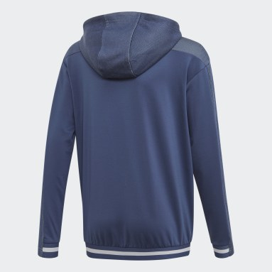 Youth 8-16 Years Gym & Training Blue Messi Hoodie