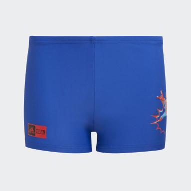 เด็กผู้ชาย ว่ายน้ำ สีน้ำเงิน กางเกงว่ายน้ำ Marvel Superhero
