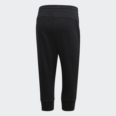 Women Sportswear Black Essentials Linear 3/4 Joggers