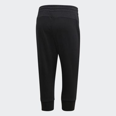 Pantaloni 3/4 Essentials Linear Nero Donna Sportswear