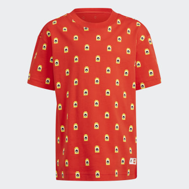 Children Training Red adidas x Classic LEGO® Bricks Tee