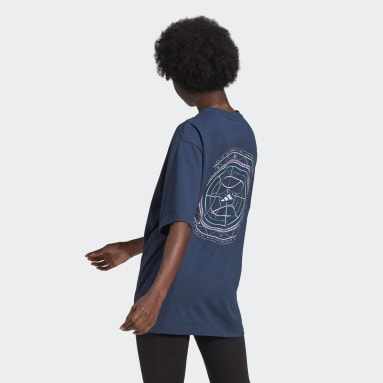 Women's Sportswear Blue Mandala Badge of Sport Graphic Tee