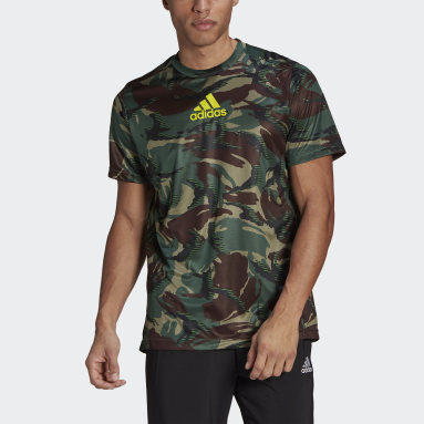 Men's Training Green adidas Designed 2 Move AEROREADY Camouflage Graphic Tee
