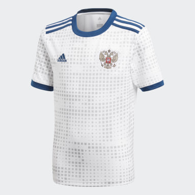 Réplica Jersey Visitante Rusia Blanco Niño Fútbol