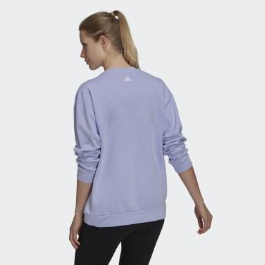 Women's Essentials Purple adidas x Zoe Saldana Soft Knit Sweatshirt