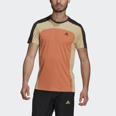 Men Running Orange HEAT.RDY Running Tee