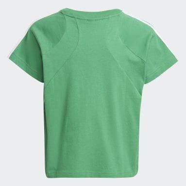 Dívky Cvičení A Trénink zelená Tričko Bold