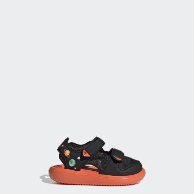 Infants ว่ายน้ำ สีดำ รองเท้าแตะสวมสบาย