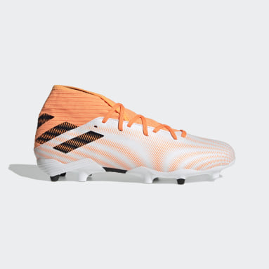 Football White Nemeziz.3 Firm Ground Boots