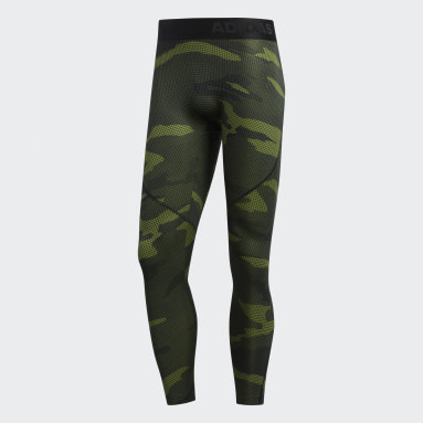 Mallas Alphaskin Camuflaje - Corte Bajo Verde Hombre Training