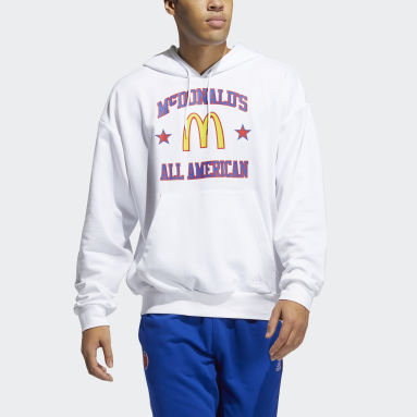 Men Basketball White McDonald's All American Game Hoodie