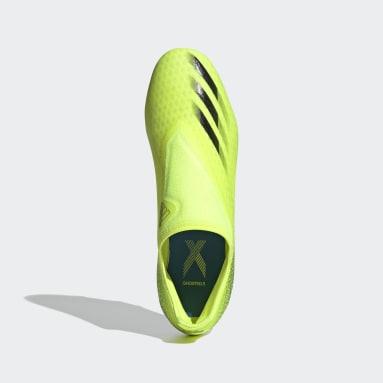 Fotbal žlutá Kopačky X Ghosted.3 Laceless Firm Ground
