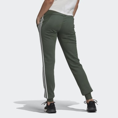 Women Sportswear Green Essentials French Terry 3-Stripes Joggers