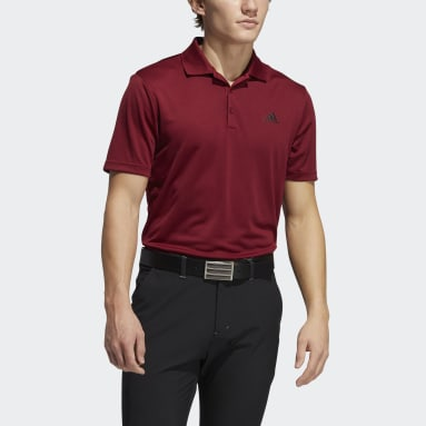 Polo Performance Primegreen Burgundy Hombre Golf