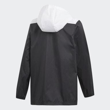 Cortavientos con capucha Tiro Negro Niño Gimnasio Y Entrenamiento