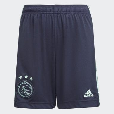 Calções Alternativos 21/22 do Ajax Amsterdam Azul Criança Futebol