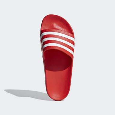 Swimming Red Adilette Aqua Slides