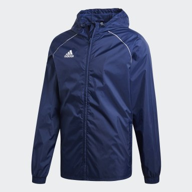 Men Gym & Training Blue Core 18 Rain Jacket