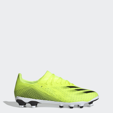 Men's Soccer Yellow X Ghosted.3 Multi-Ground Cleats