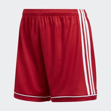 Women Soccer Red Squadra 17 Shorts