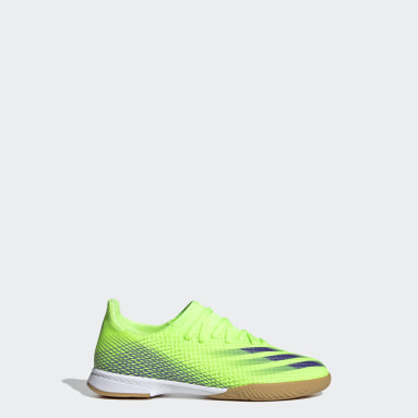 Children Soccer Green X Ghosted.3 Indoor Shoes