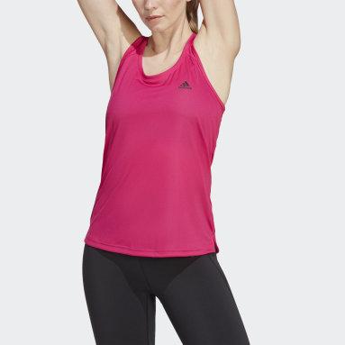 Ženy Tréning A Fitnes červená Tielko Primeblue Designed 2 Move 3-Stripes Sport