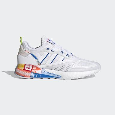 Sapatos ZX 2K Boost Branco Homem Originals