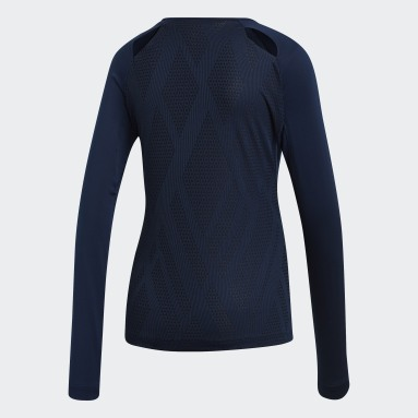 Women Squash Blue Quickset Jersey