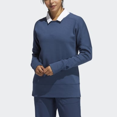Women's Golf Blue Go-To Recycled Content Crew Sweatshirt