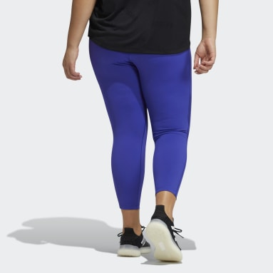 Believe This Solid 7/8 Tights (Plus Size) Fioletowy