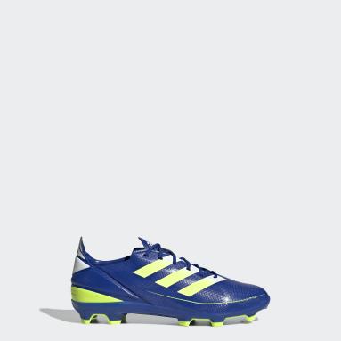 Kids Football Blue Gamemode Firm Ground Boots