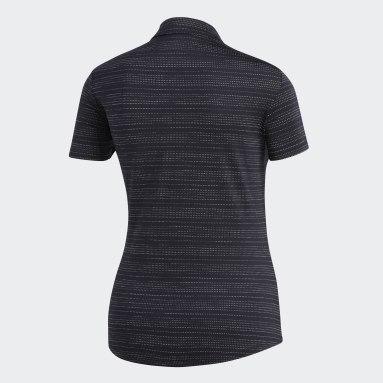 Women Golf Black Microdot Polo Shirt