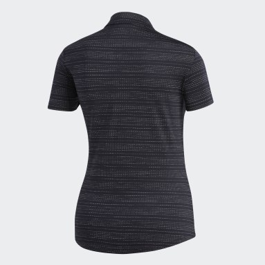Polo Microdot noir Femmes Golf