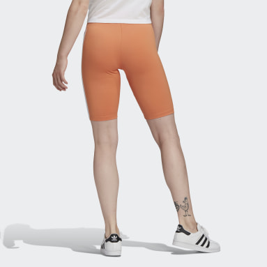 Dames Originals Oranje Adicolor Sliced Trefoil Korte Legging