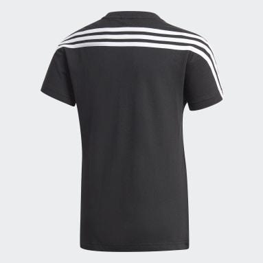 Genç Training Siyah 3 Bantlı Pamuklu Tişört