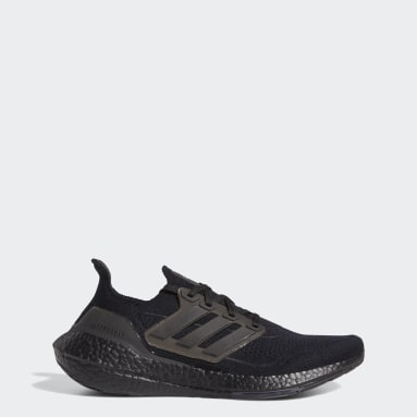 Men Running Black Ultraboost 21 Shoes