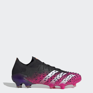 Football Black Predator Freak.1 Firm Ground Boots