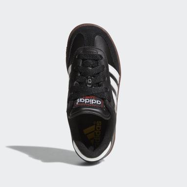 Children Soccer Black Samba Classic Shoes
